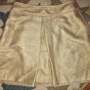 Banana Republic Gold Metallic Skirt